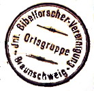 Stempel - Internationale Bibelforscher - Vereinigung Ortsgruppe Braunschweig