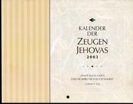 Kalender der Zeugen Jehovas 2003
