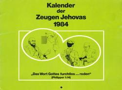 Kalender der Zeugen Jehovas 1984