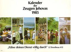 Kalender der Zeugen Jehovas 1985