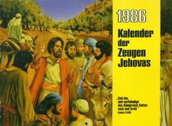 Kalender der Zeugen Jehovas 1986