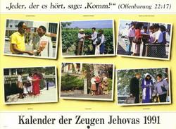 Kalender der Zeugen Jehovas 1991