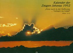 Kalender der Zeugen Jehovas 1992