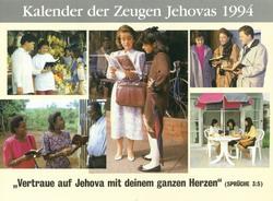Kalender der Zeugen Jehovas 1994