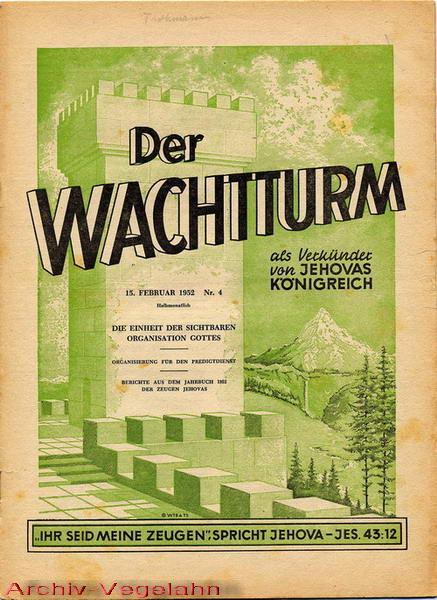 Der Wachtturm, 15.02.1952