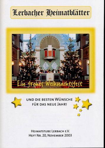 Frohe Weihnachten Und Alles Gute F303274r Das Neue Jahr.Lerbacher Heimatblatter