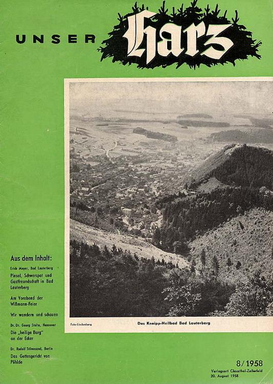 lokalbild der woche bad sachsa 1958