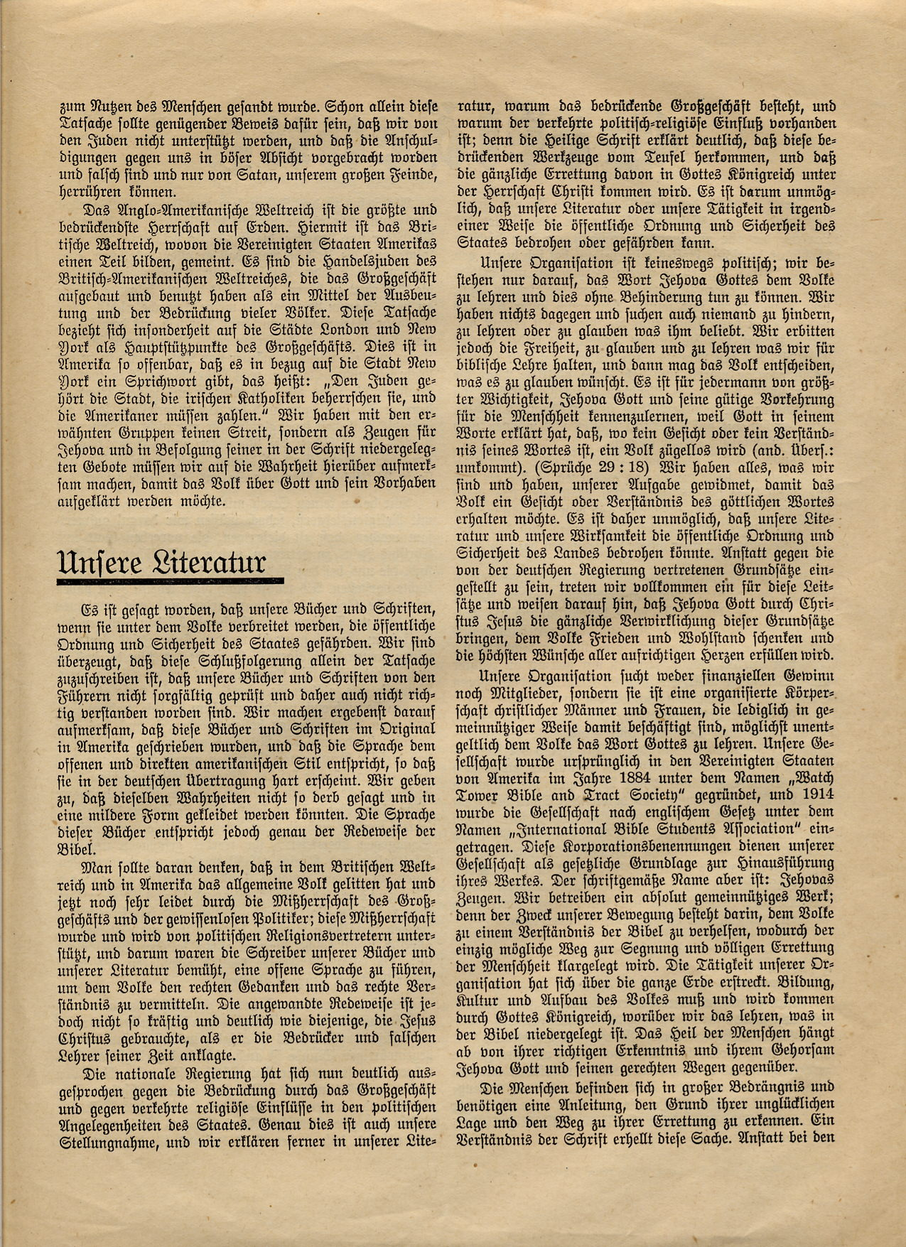 Erklärung - Berlin Wilmersdorf - 25.06.1933 - Seite 2