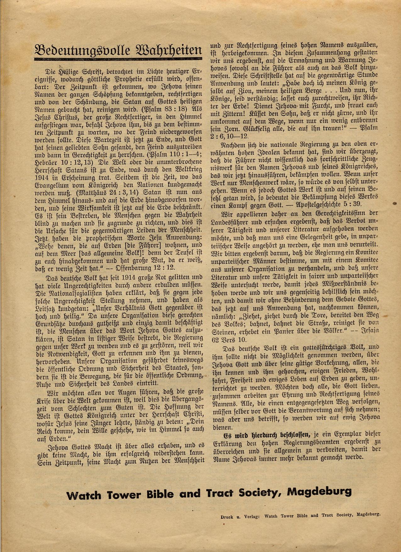 Erklärung - Berlin Wilmersdorf - 25.06.1933 - Seite 4