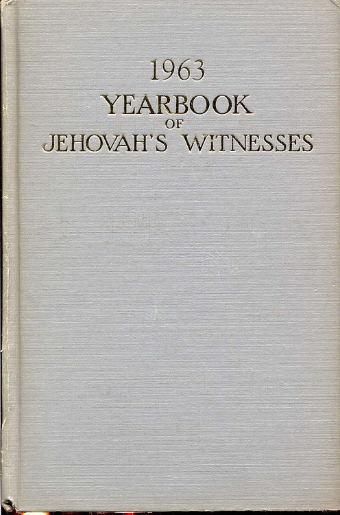 1963 Yearbook of Jehovah's Witnesses