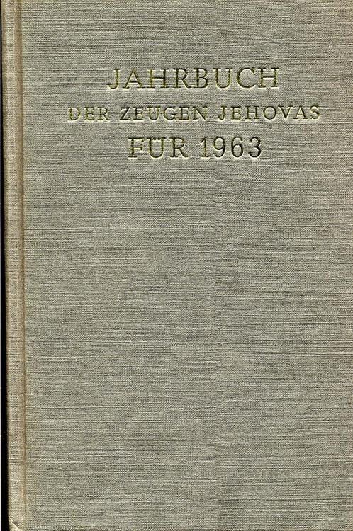 Jahrbuch der Zeugen Jehovas für 1963