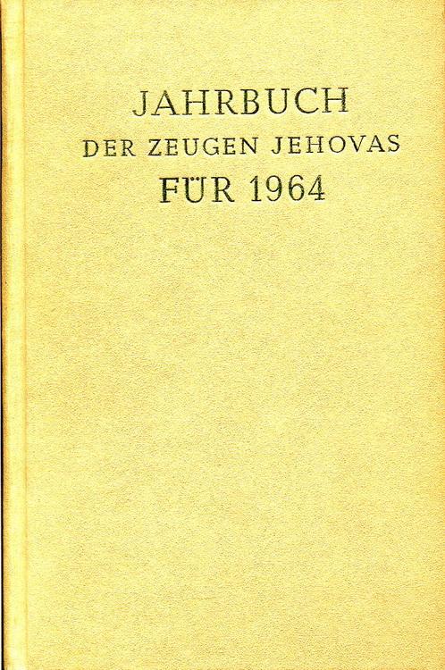 Jahrbuch der Zeugen Jehovas für 1964