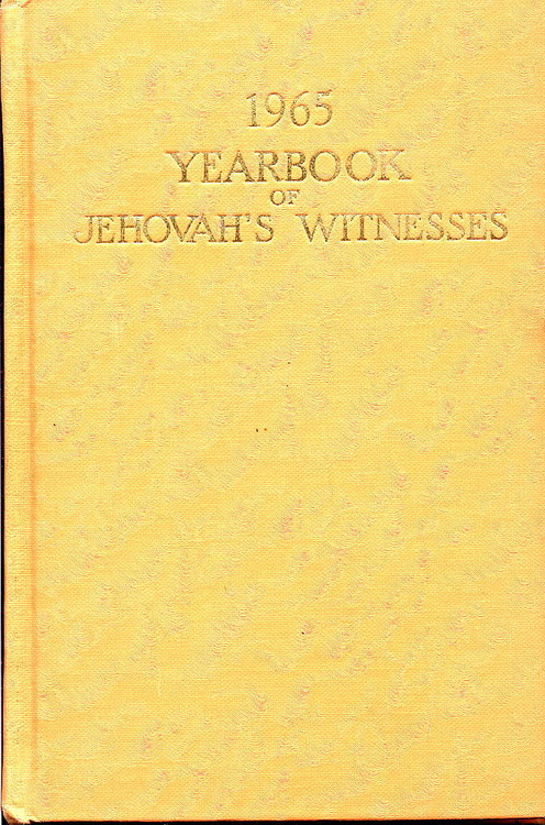 1965 Yearbook of Jehovah's Witnesses