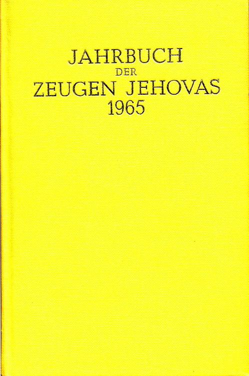 Jahrbuch der Zeugen Jehovas 1965