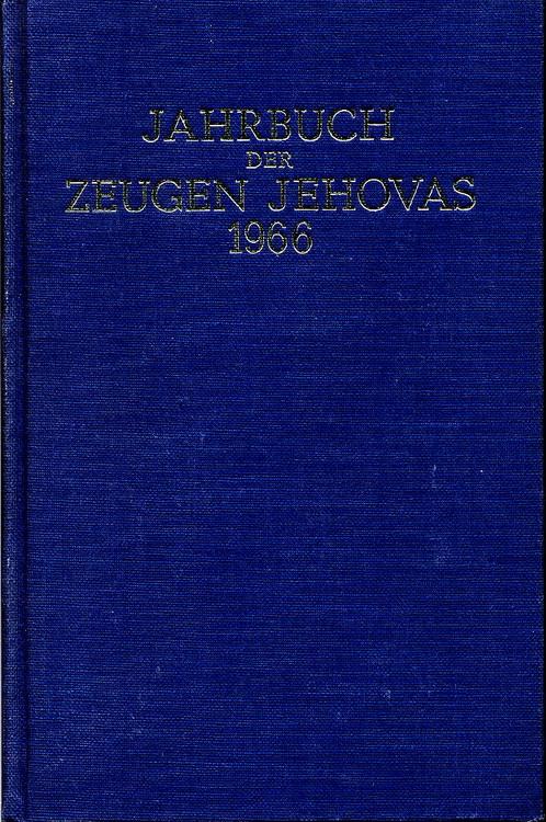Jahrbuch der Zeugen Jehovas 1966