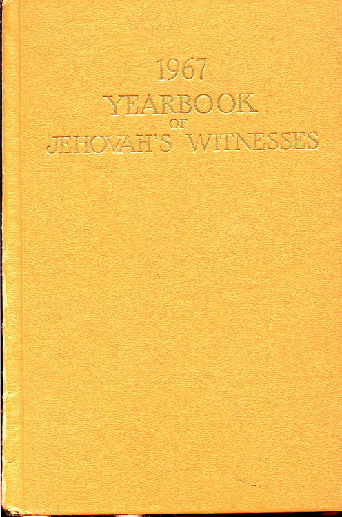 1967 Yearbook of Jehovah's Witnesses