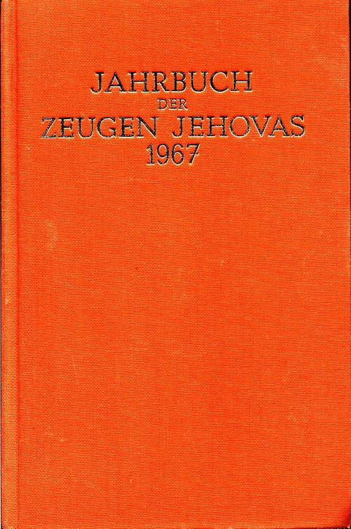 Jahrbuch der Zeugen Jehovas 1967