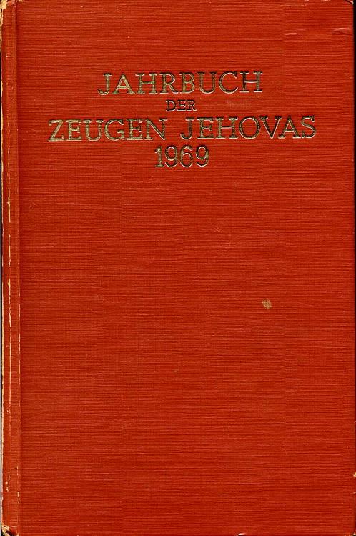 Jahrbuch der Zeugen Jehovas 1969