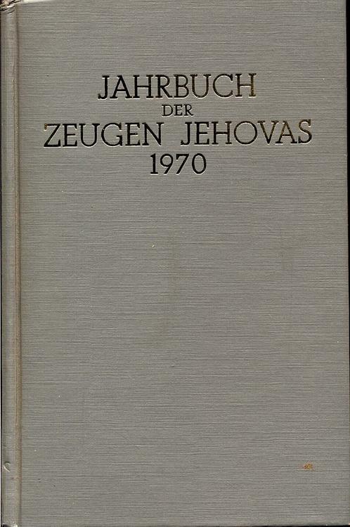 1970 Jahrbuch der Zeugen Jehovas