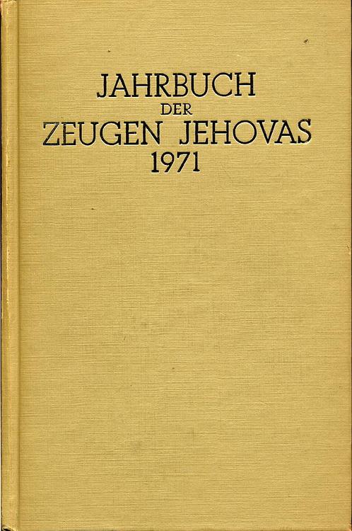 Jahrbuch der Zeugen Jehovas 1971