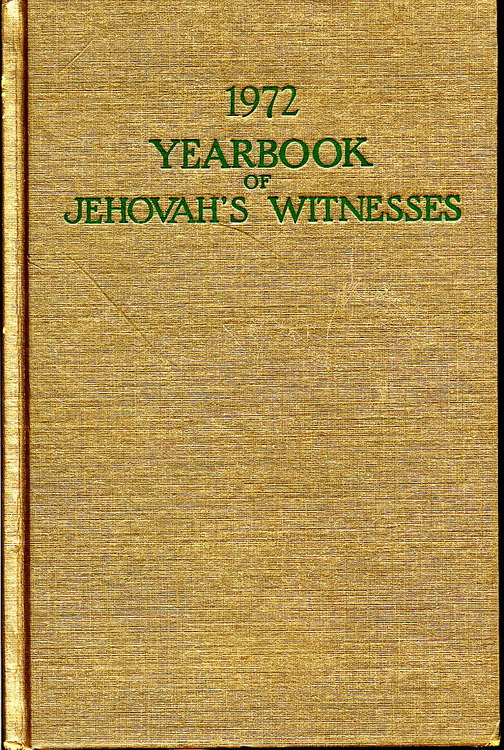 1972 Yearbook of Jehovah's Witnesses