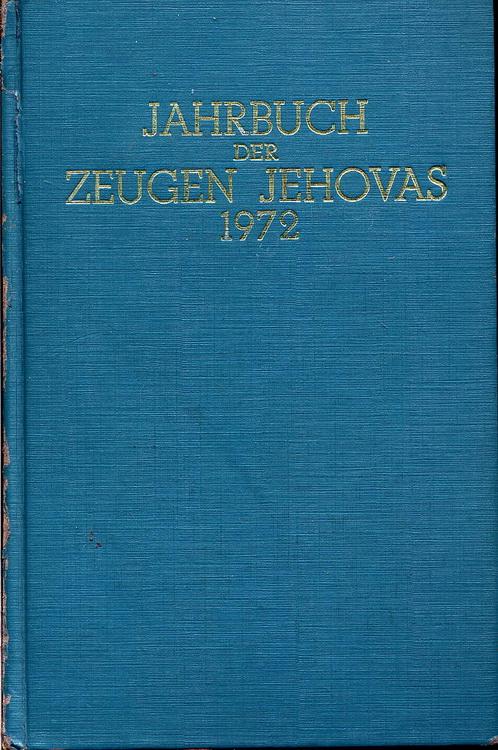 Jahrbuch der Zeugen Jehovas 1972