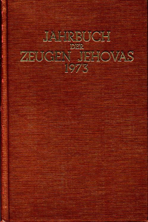Jahrbuch der Zeugen Jehovas 1973