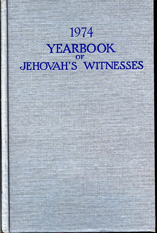 1974 Yearbook of Jehovah's Witnesses