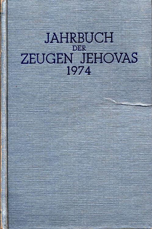 Jahrbuch der Zeugen Jehovas 1974