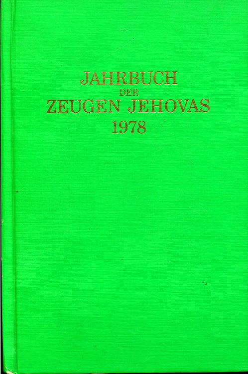 Jahrbuch der Zeugen Jehovas 1978