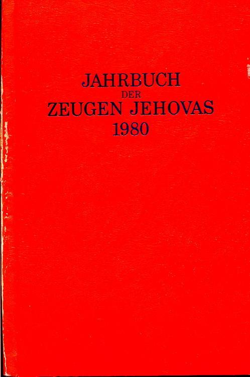 Jahrbuch der Zeugen Jehovas 1980