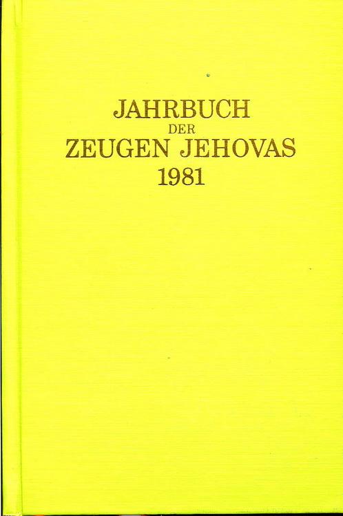 Jahrbuch der Zeugen Jehovas 1981