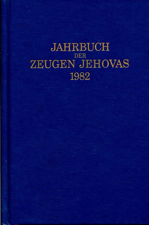 Jahrbuch der Zeugen Jehovas 1982