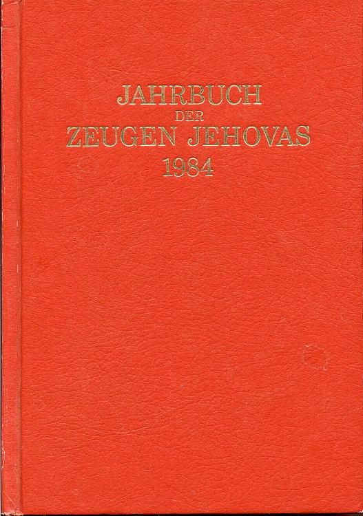 Jahrbuch der Zeugen Jehovas 1984