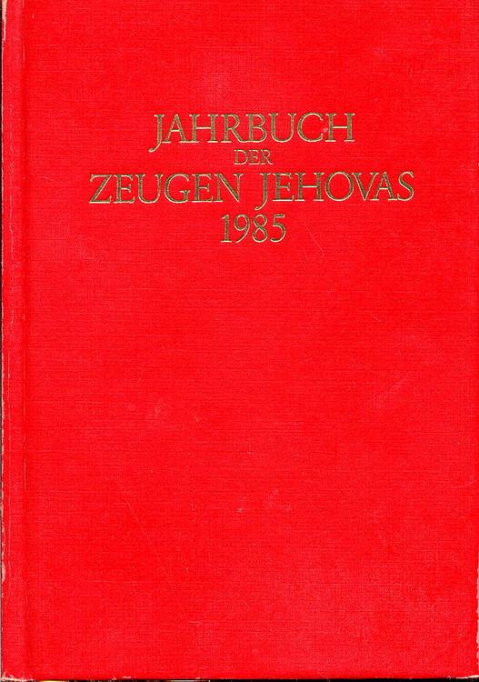 Jahrbuch der Zeugen Jehovas 1985