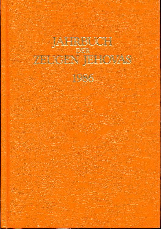 Jahrbuch der Zeugen Jehovas 1986