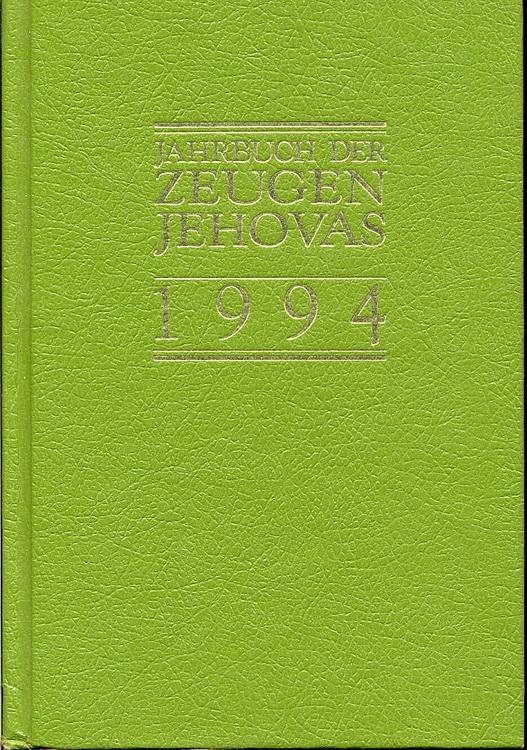 Jahrbuch der Zeugen Jehovas 1994